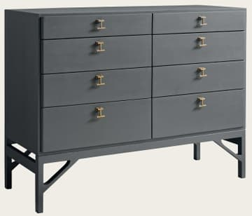Large chest of drawers with T-bar handles