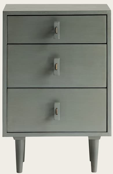 Mid 051V1 – Bedside table with wood handles