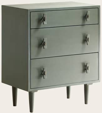 Small chest of drawers with wood handles