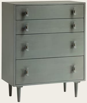 Large chest of drawers with wood handles