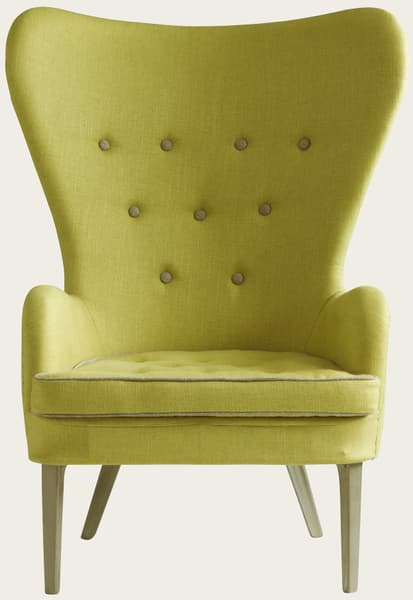 Yellow Chair V1 – Chair with metal legs