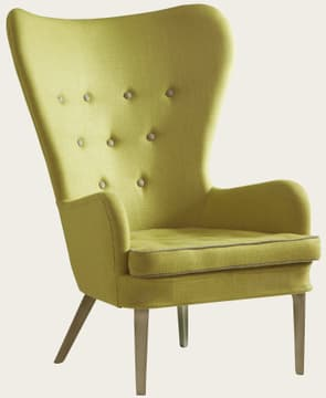 Chair with metal legs