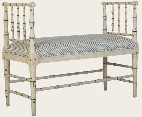 Tro067 38A – Faux bamboo bench