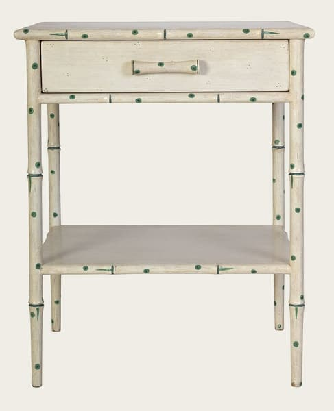 Tro108 38 – Faux bamboo side table with drawer