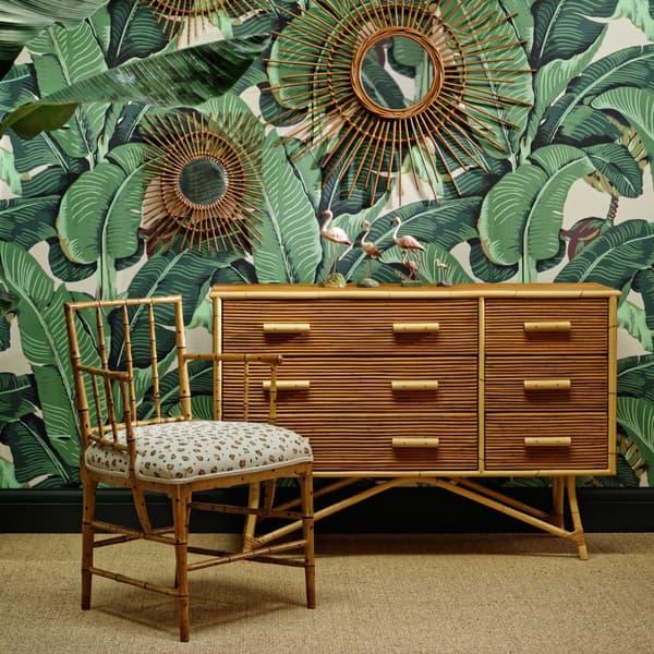Tro027 Tro041A – Faux bamboo armchair