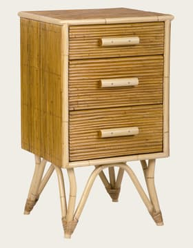 Split cane bedside table