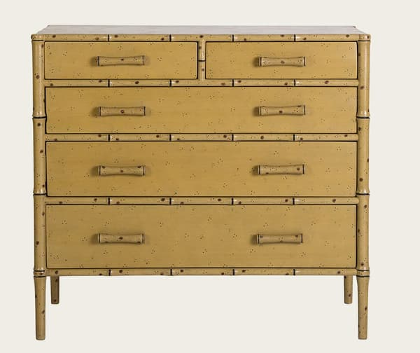 Tro040A – Faux bamboo chest of drawers