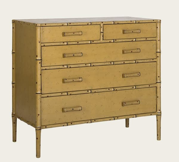 Tro040Aa – Faux bamboo chest of drawers