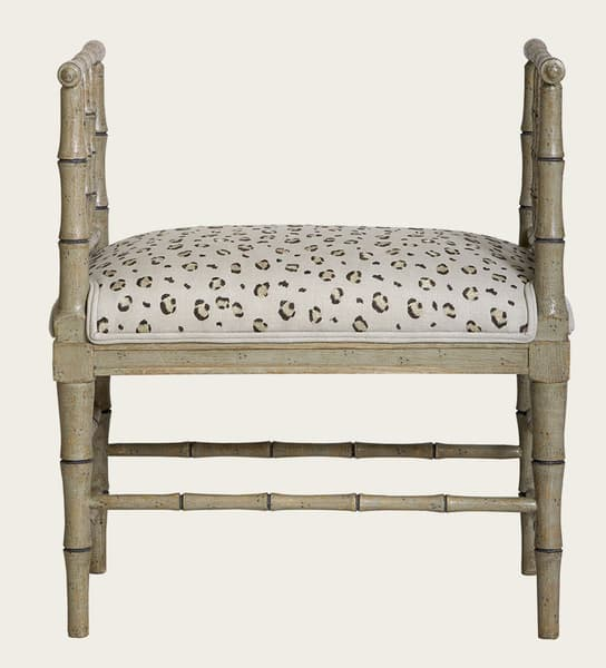 Tro067Ab – Faux bamboo small bench