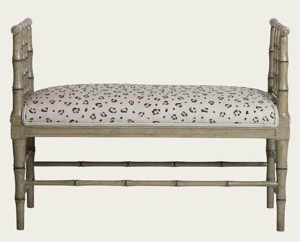 Tro067B – Faux bamboo bench