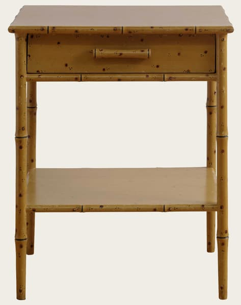 Tro108 – Faux bamboo side table with drawer