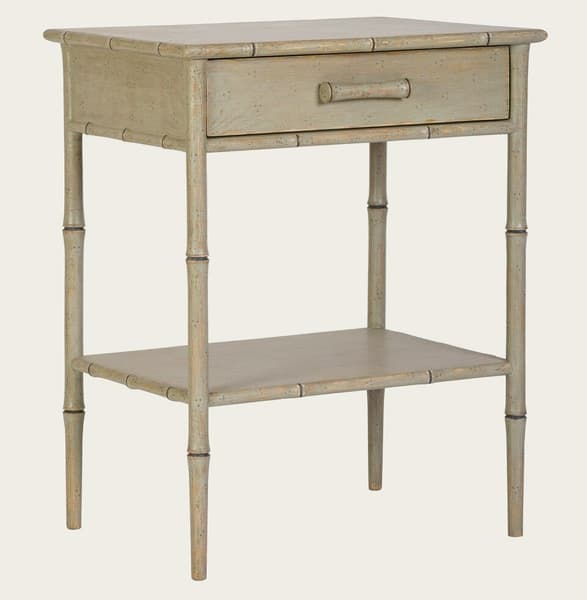 Tro108B V1 – Faux bamboo side table with drawer