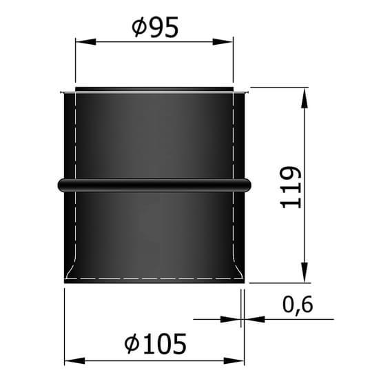 ø95mm til ø100mm murbøsning dobbelt