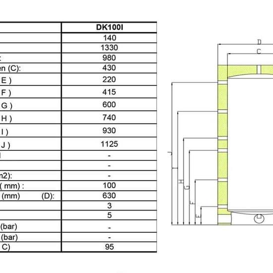 Akkumuleringstank med isolering 140 liter