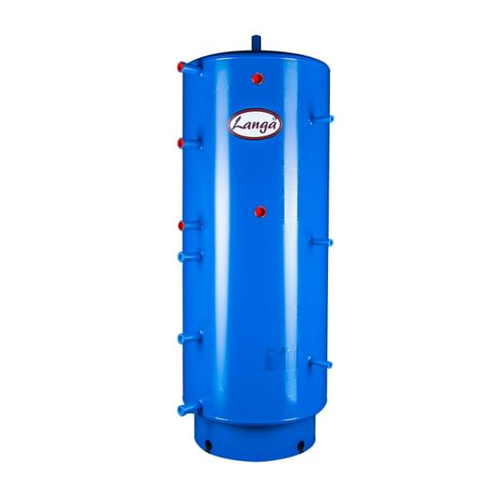 Akkumuleringstank uden isolering, med sanitetsspiral, 500 liter