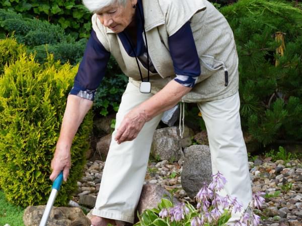 SureSafe Woman with FallSafe Gardening