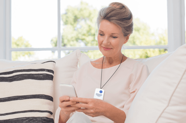 Woman with Talksafe pendant