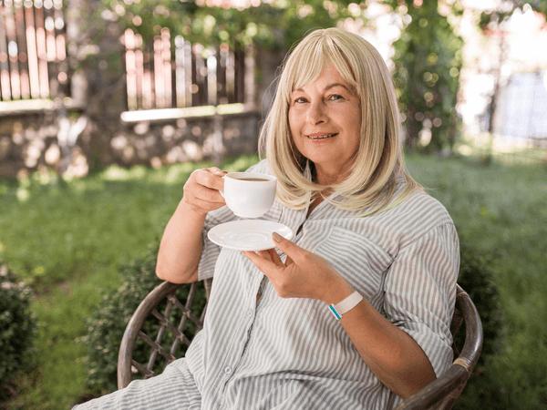 Woman personal alarm wristband