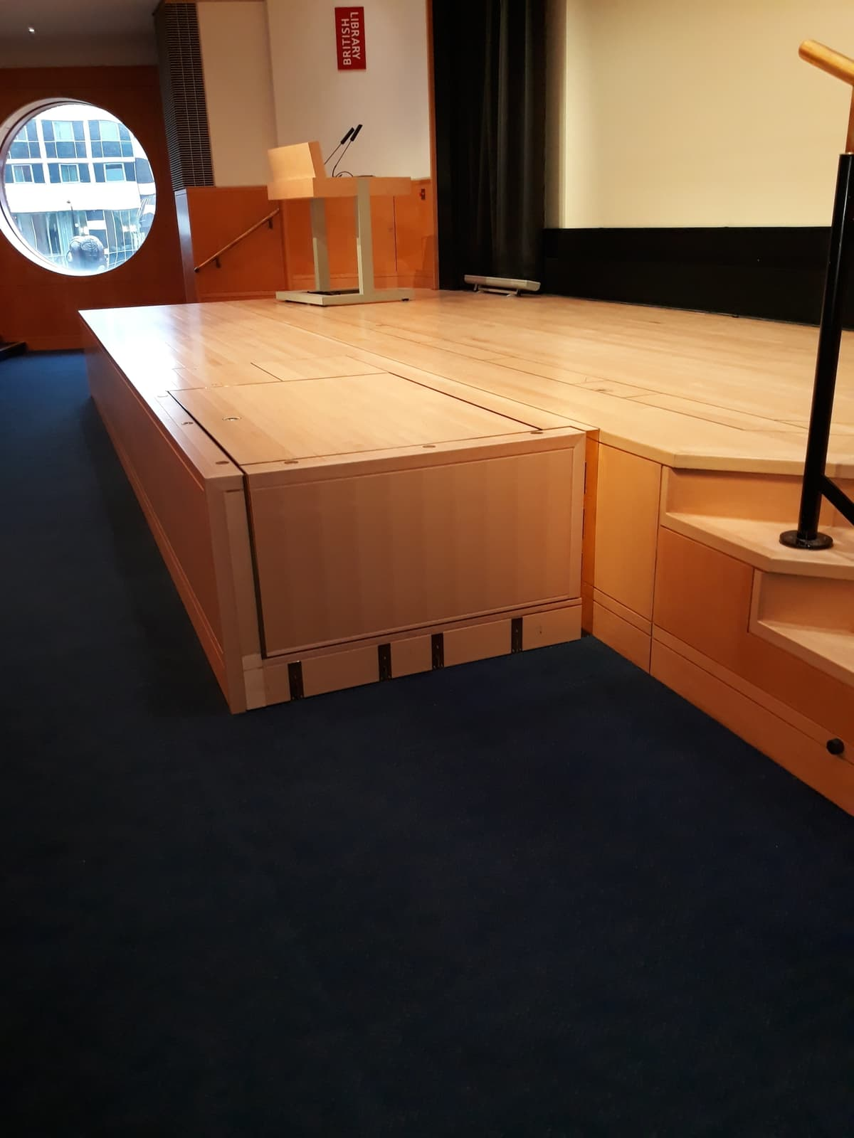 British Library Stage Lift