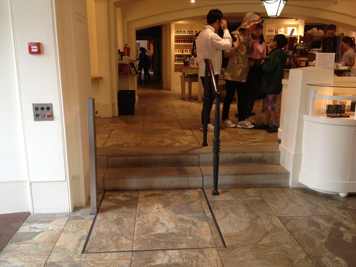hidden disabled lift at Kensington Palace