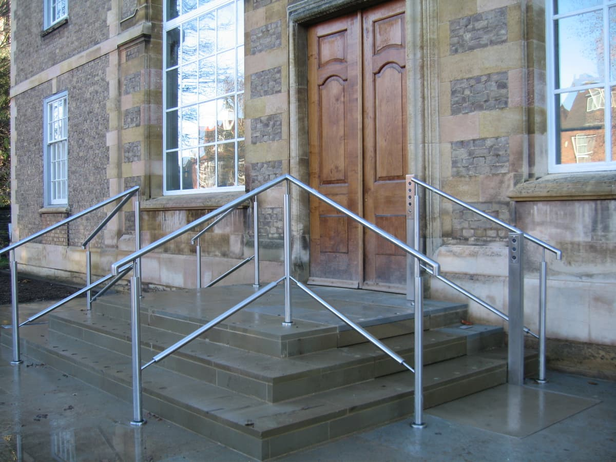 picture of steps outside Scott Polar with stairs out