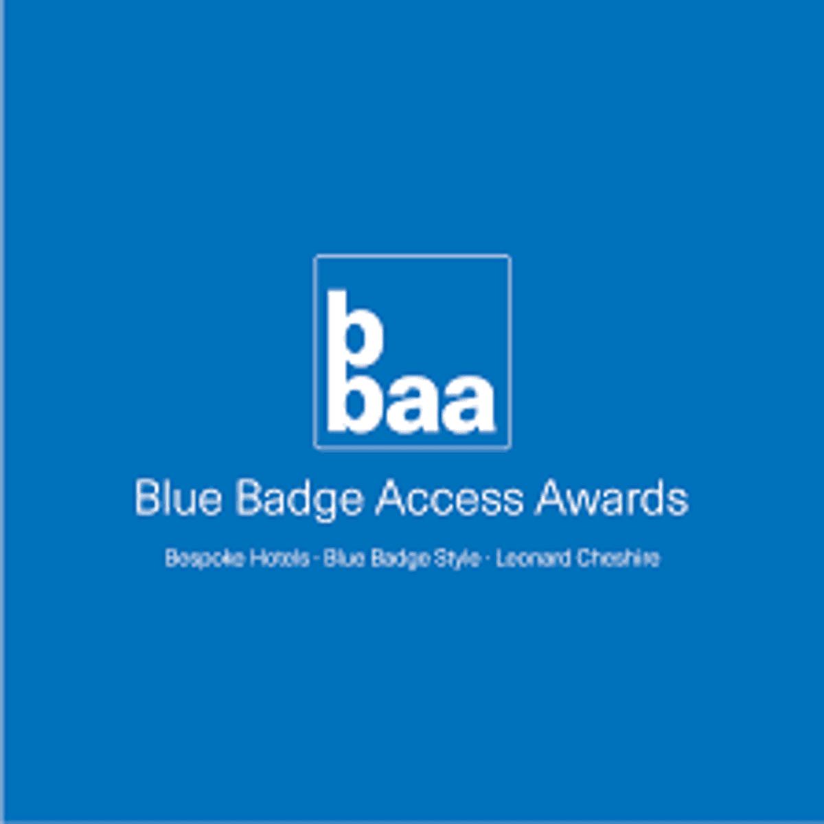 Blue Badge Access Awards 2019 logo.