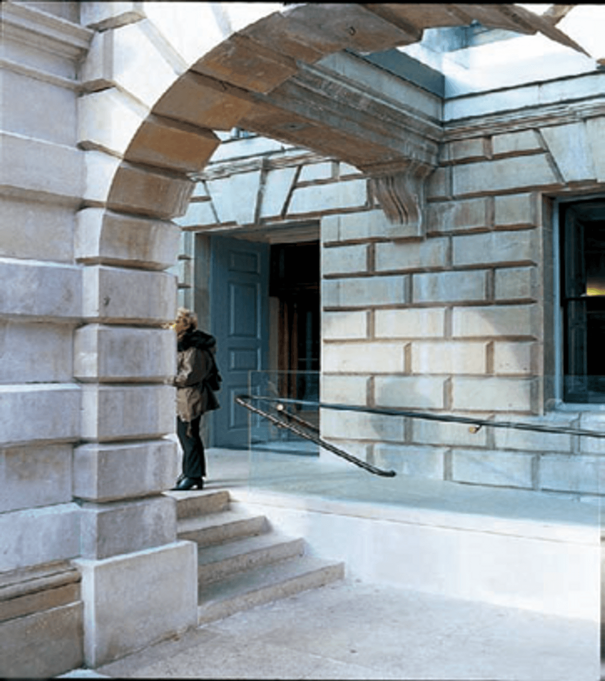 Image of a Permanent Ramp (Steeper Gradient) in a listed building.