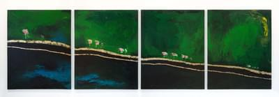 Green Earth, quadtych from the series I'll Fly Around the World