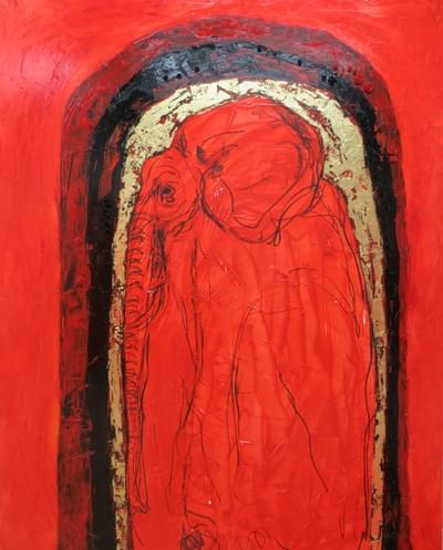 Klimt-Elephant-Profile