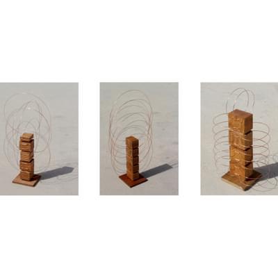 Wood and Copper Totems I, II, III