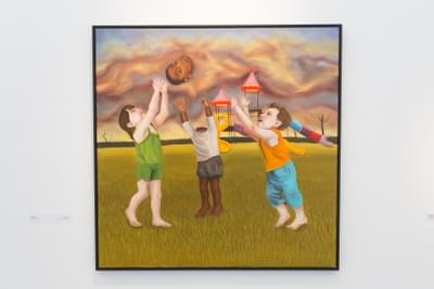 Alexandra Troy  Child'S Play 2019  Oil On Canvas 92 X 92 Cm