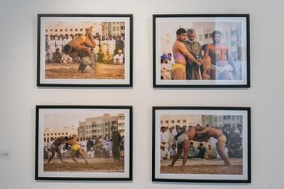 Harshini Karunaratne  Pehlwani  Wrestling In The Sands 2015  Photograph 31 2 X 41 2 Cm Each