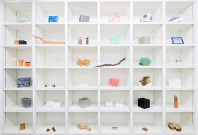 Shelves of works from 39/40