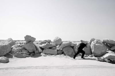 عمل الصحراء -  صخر الجلمود