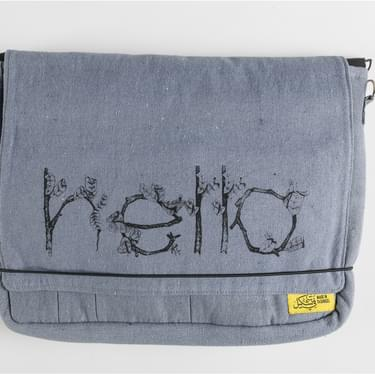 Mobius Grey Screenprinted Bag
