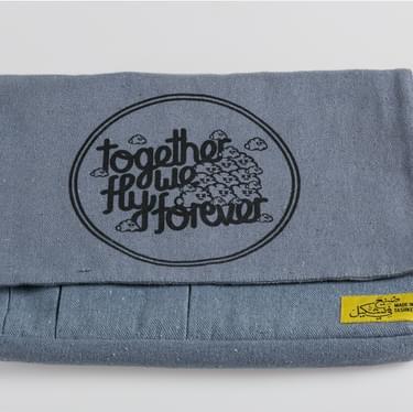 Myneandyours Grey Screenprinted Bag