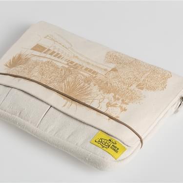 Tulip Laser Etched Beige Bag