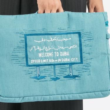 Aquamarine Welcome To Dubai Pouch