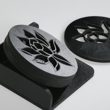 Desert Flower Coasters 3
