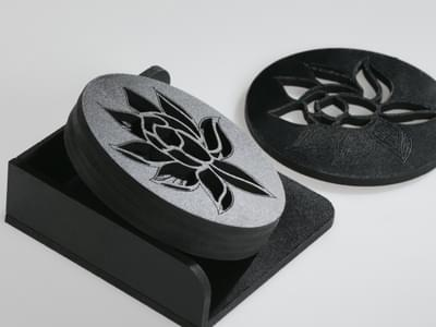 Desert Flower Coasters 3