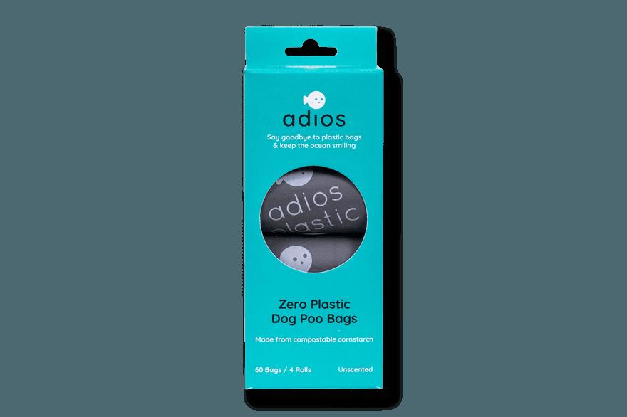 Adios Poo Bags x 4 rolls in Grey