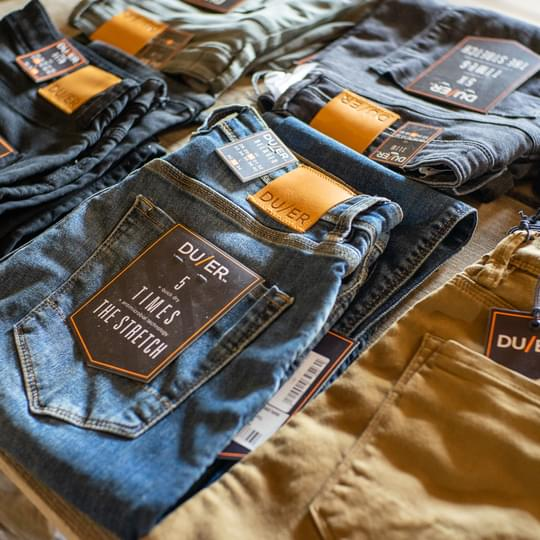 Duer Jeans Homepage