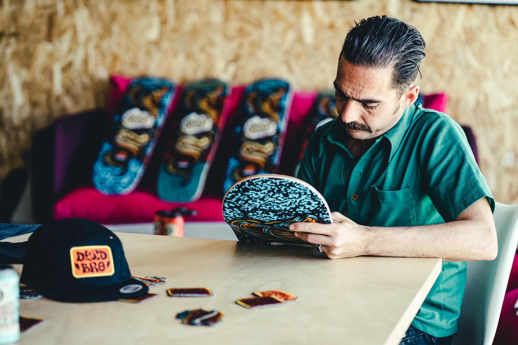 Dyed Bro Skate board