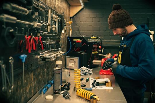 Plush shock service ohlins