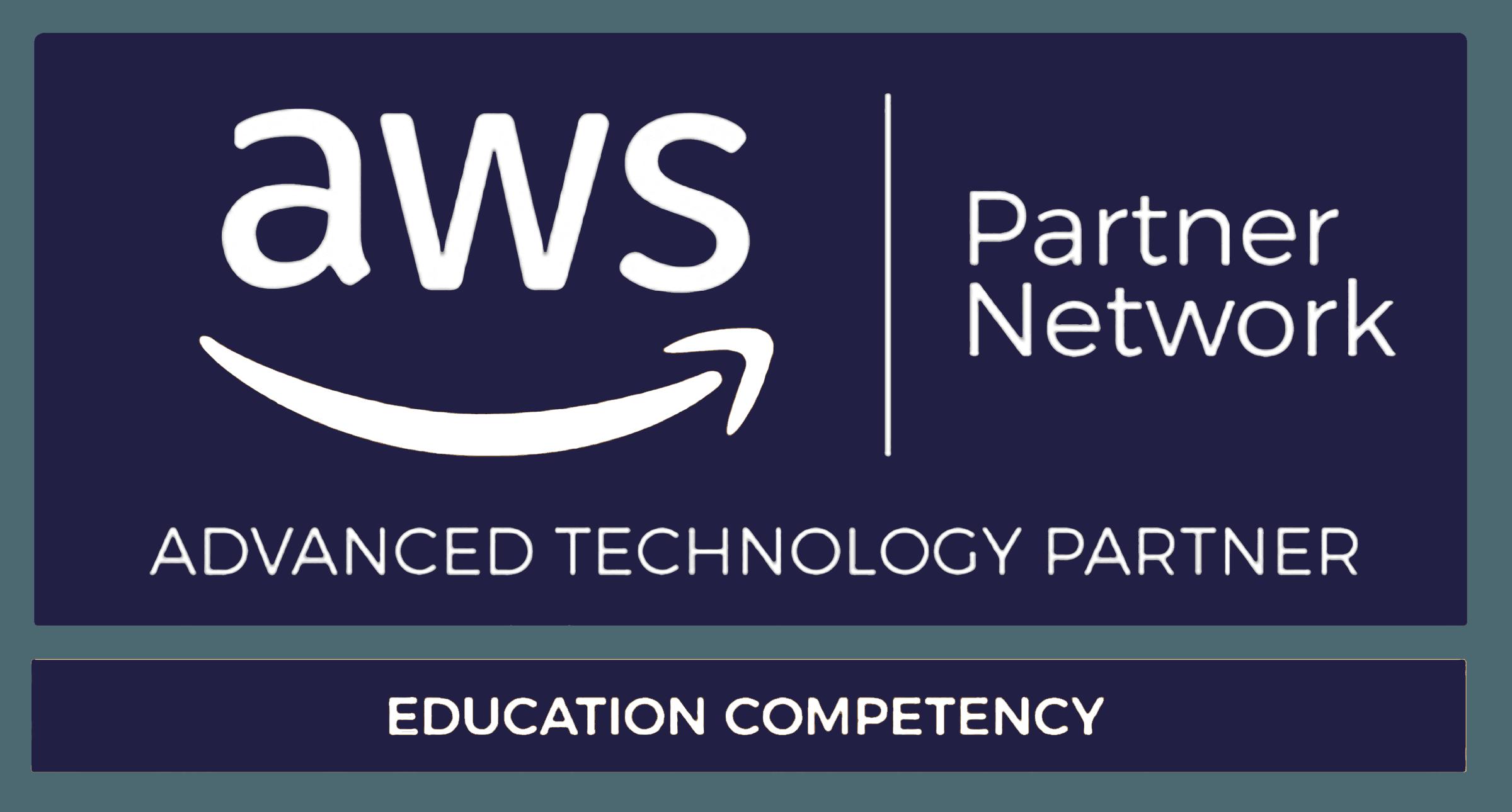 Aws education competency logo dark blue
