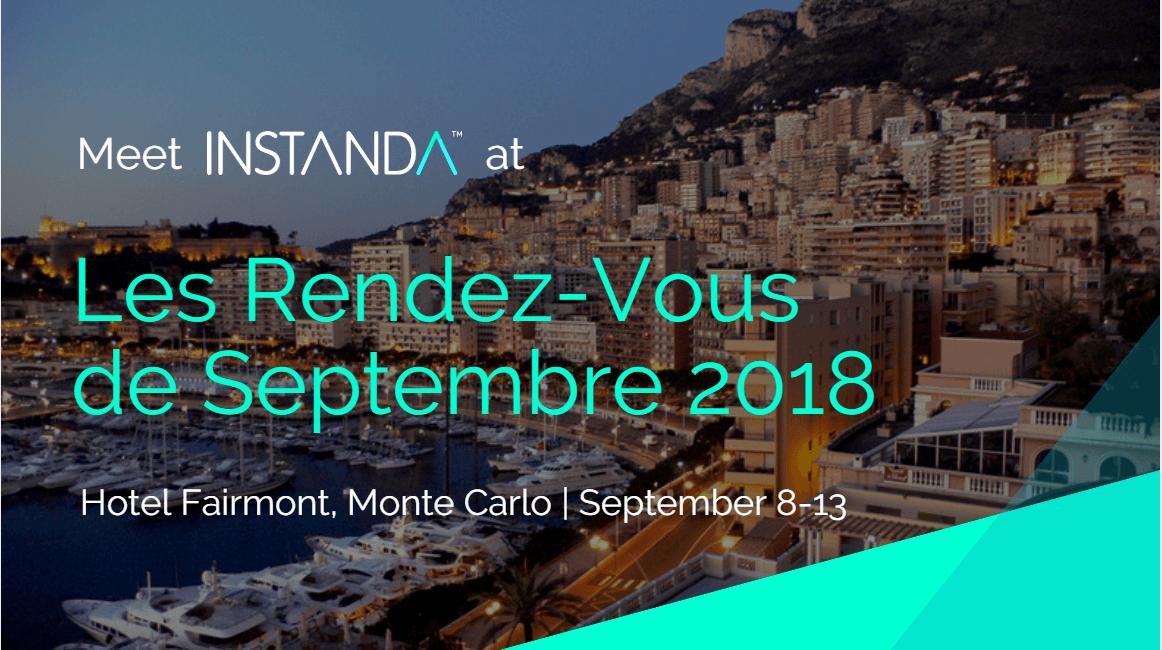 INSTANDA at Rendez-Vous de Septembre in Monte Carlo