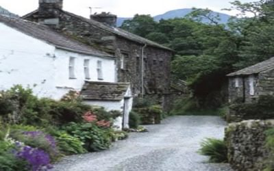 Crookabeck Houses, tucked away on a quiet lane on the way to Hartsop (Stage 12)