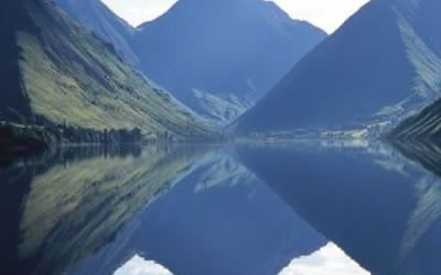 Wastwater reflections, an almost perfect mirror image on a calm day ((Stage 5)