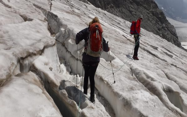 08 As We Descended The Crevasses Became Larger