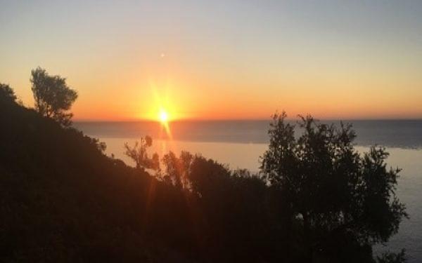 The beautiful sunrise